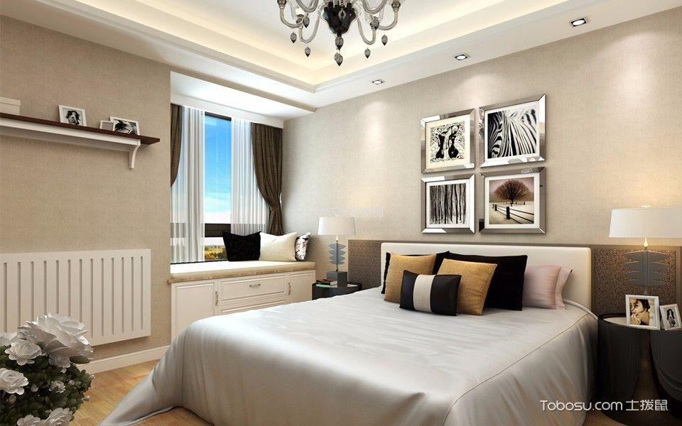 卧室咖啡色背景墙现代风格装饰设计图片
