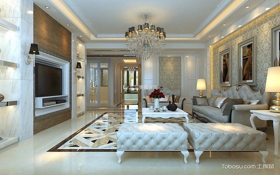 金域蓝湾190平米欧式风格四居室装修效果图