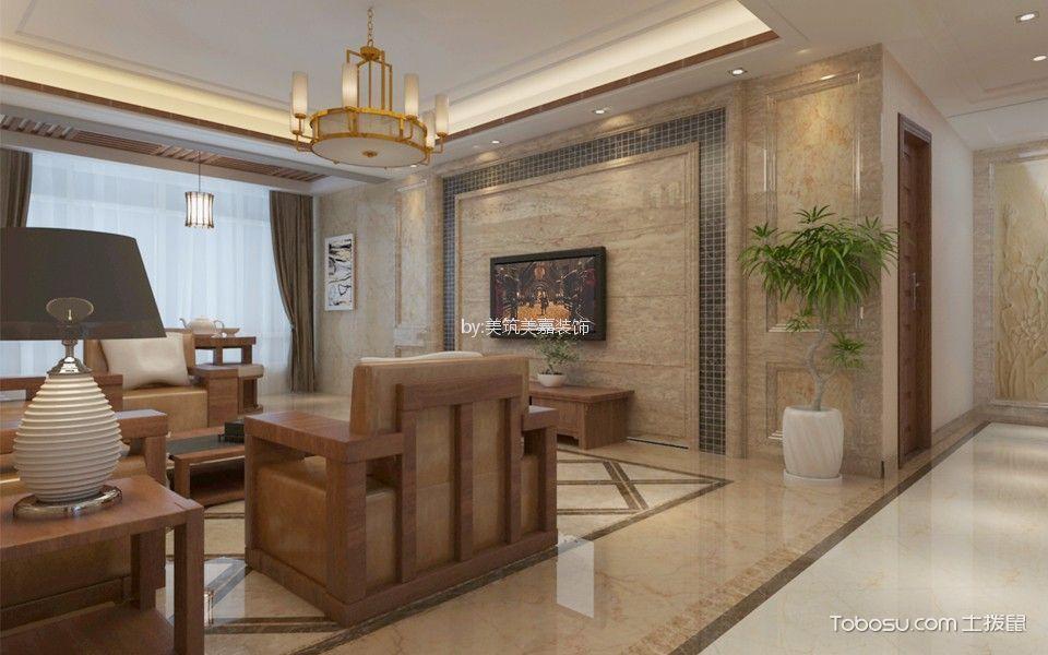 138平米橡树湾新中式风格四居室装修效果图