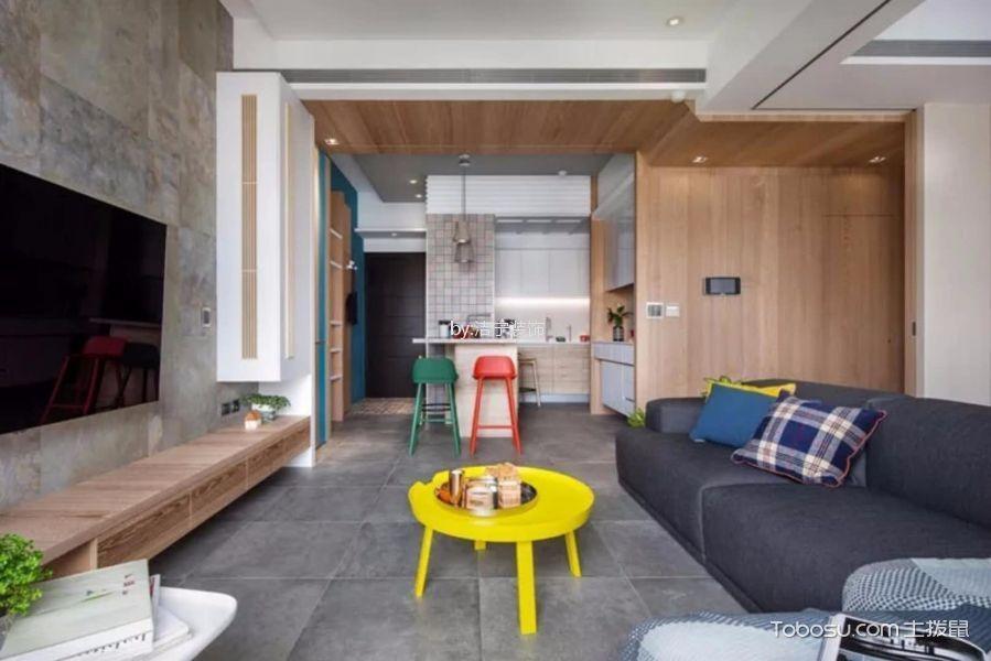 北欧风格90平米三居室装修效果图