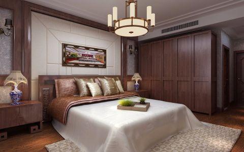 卧室红色衣柜新中式风格装修图片