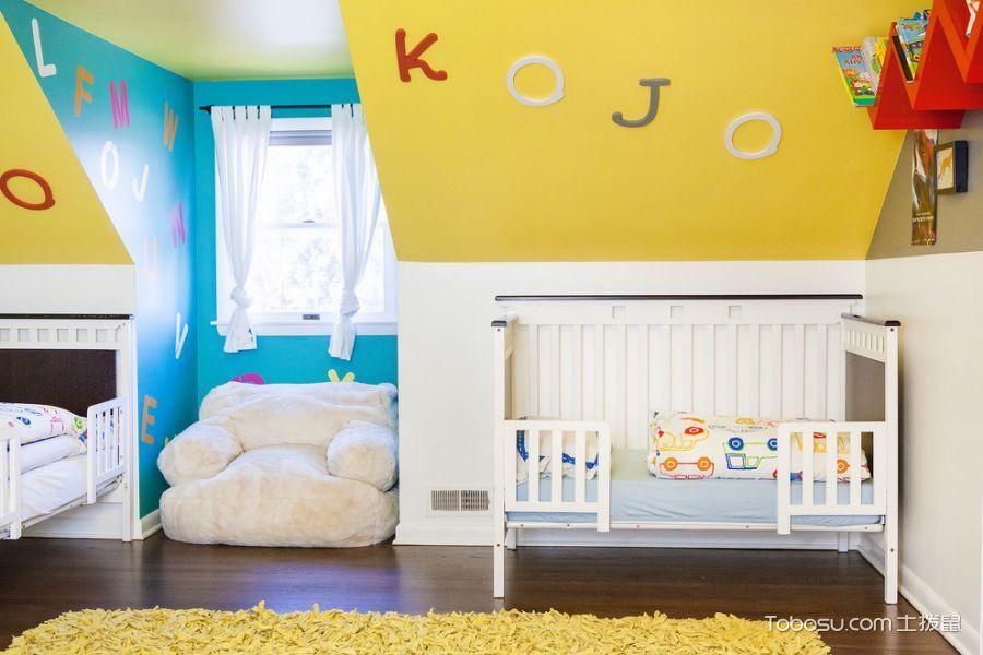 儿童房 背景墙_175平米别墅混搭风格装修图片