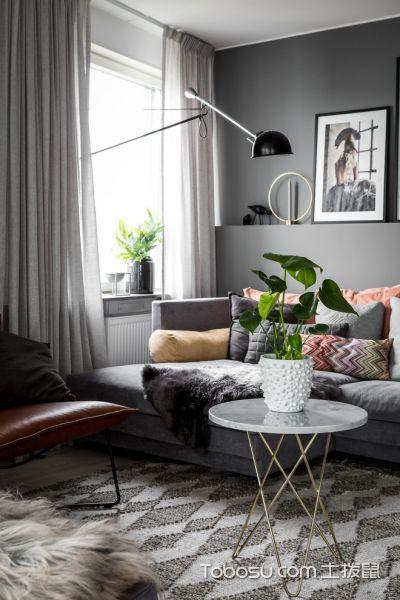 客厅白色茶几现代风格装潢图片