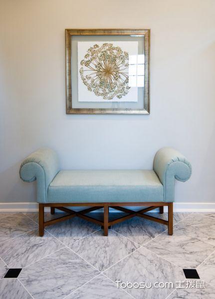 浴室灰色地砖美式风格装修设计图片