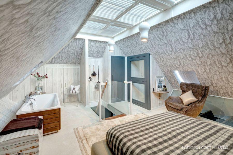 浴室白色浴缸现代风格装饰效果图