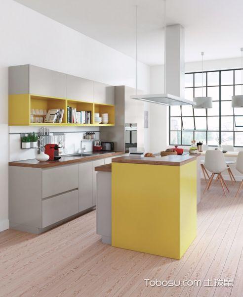 厨房灰色橱柜现代风格装修效果图