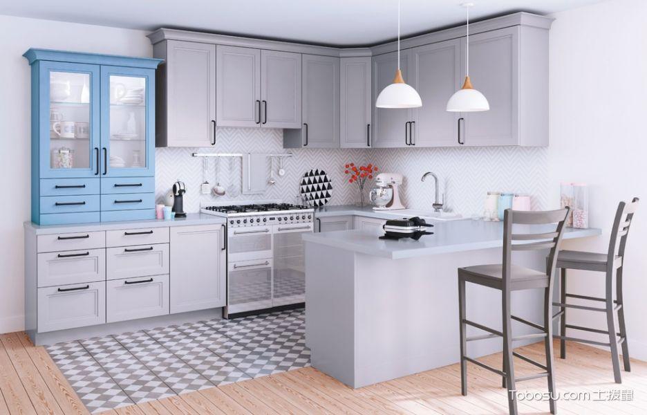 厨房灰色橱柜现代风格装饰图片