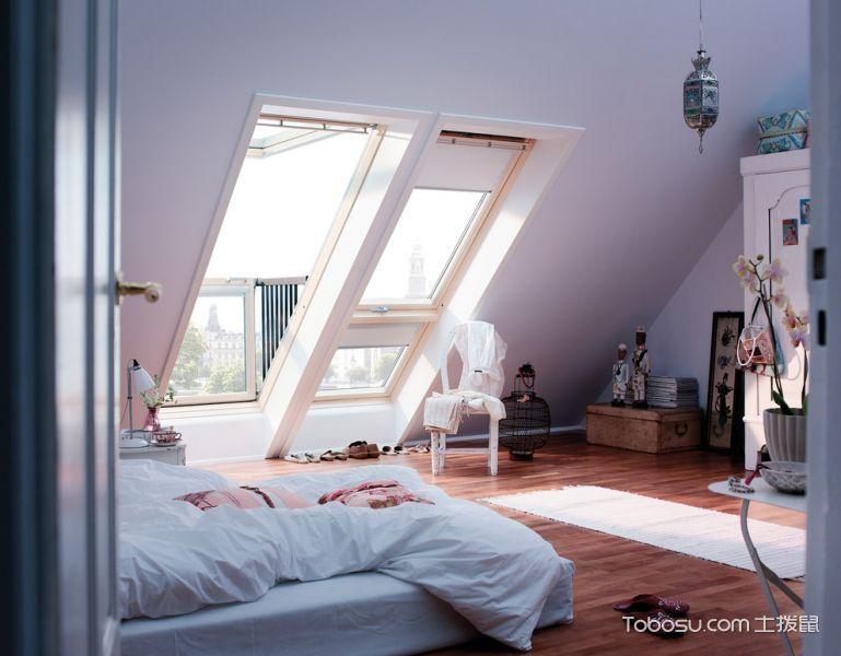 创意白色卧室装修图片-土拨鼠装修效果图