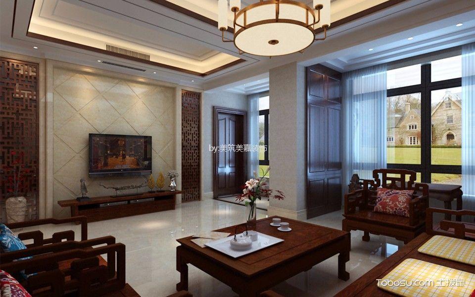 320平米蜀景花园新中式风格五居室装修效果图
