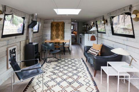 混搭风格一居室60平米装潢设计图片