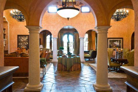 客厅地中海风格装潢设计图片