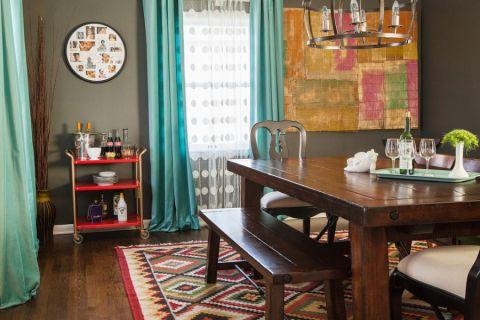 餐厅窗帘混搭风格装修设计图片