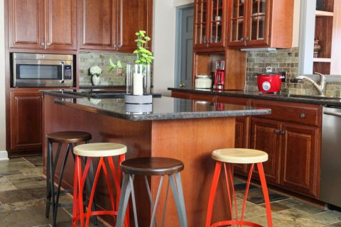厨房厨房岛台混搭风格装饰设计图片