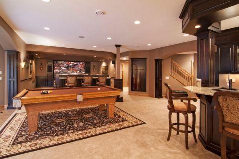 地下室走廊美式风格装潢设计图片