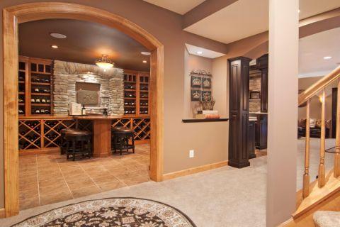 酒窖地砖美式风格装潢图片