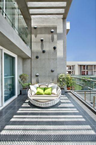阳台走廊现代风格装潢设计图片