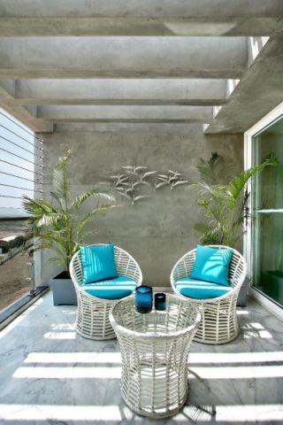 阳台窗帘现代风格装潢效果图