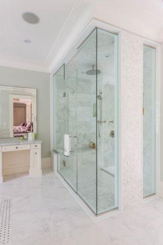 浴室隔断美式风格装饰图片