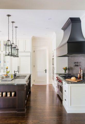 厨房走廊美式风格效果图