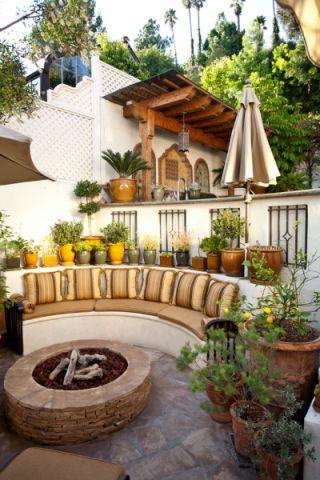 花园细节地中海风格装饰图片