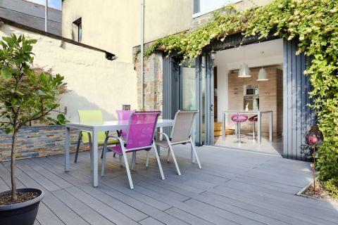 阳台地板砖混搭风格装饰设计图片