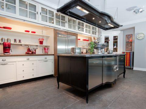 厨房地砖混搭风格装潢设计图片