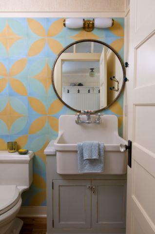 浴室洗漱台混搭风格装饰设计图片