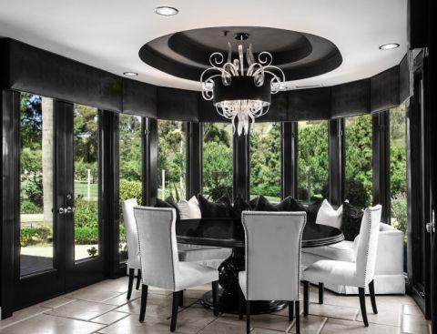 餐厅窗帘现代风格装修效果图