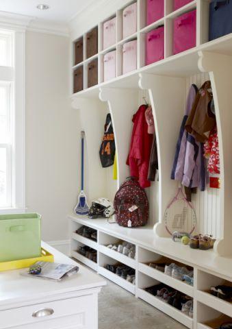 美式玄關進門鞋柜裝飾實景圖片