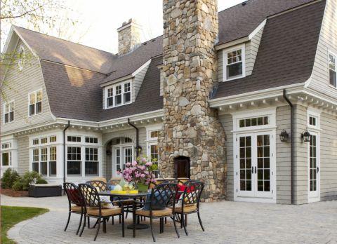 阳台地砖美式风格装饰设计图片