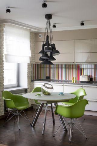 厨房窗帘现代风格装修图片