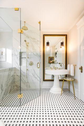 浴室隔断美式风格装修图片