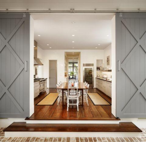 厨房灰色隔断美式风格装潢效果图