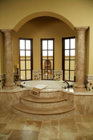 浴室白色浴缸地中海风格效果图