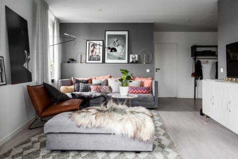 客厅灰色走廊现代风格装饰效果图