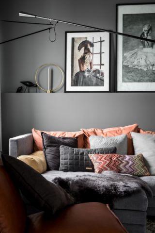 客厅灰色细节现代风格装修设计图片