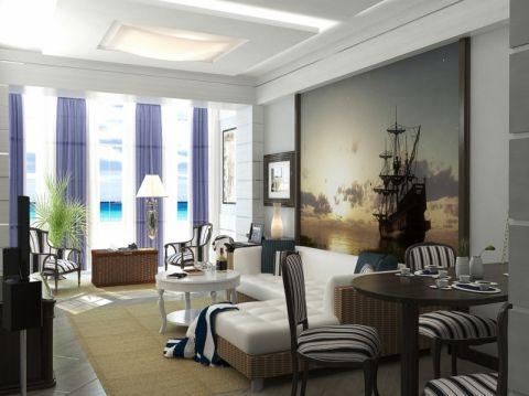 地中海风格大户型163平米装修图片
