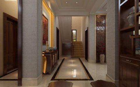 玄关楼梯新中式风格装饰设计图片