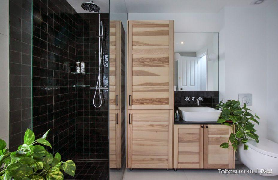 浴室黑色背景墙现代风格装饰效果图