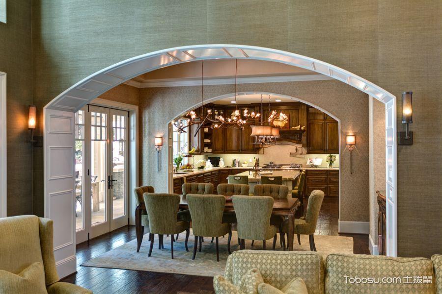 餐厅美式风格装修图片