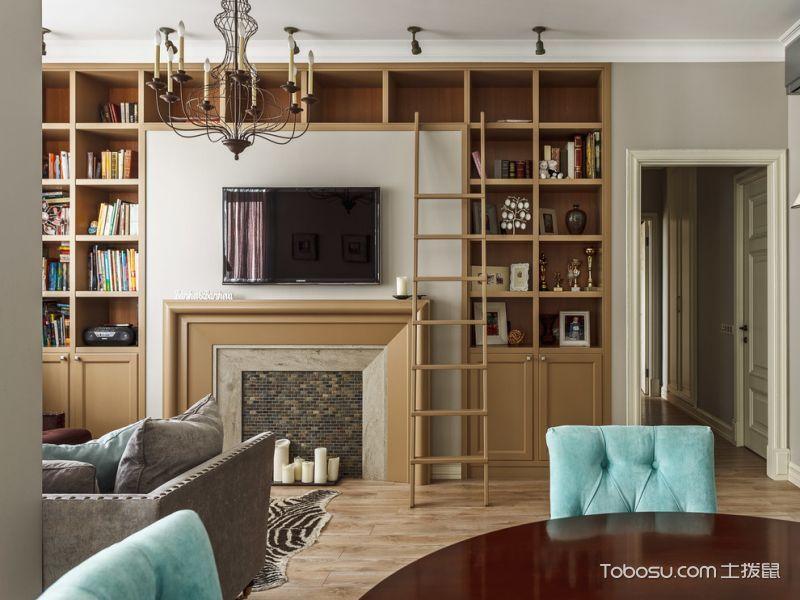 客厅美式风格装潢设计图片