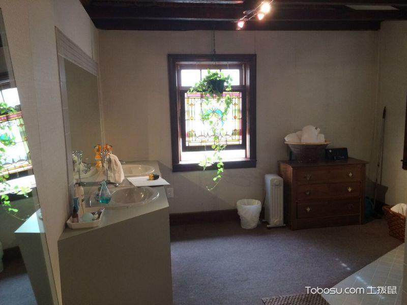 浴室咖啡色窗台混搭风格装饰效果图