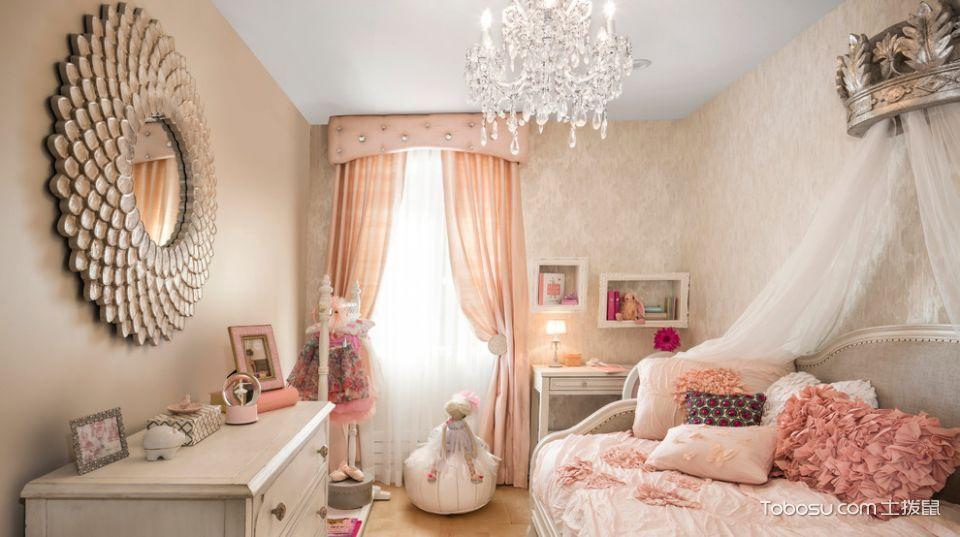 儿童房 床_美式风格复式152平米装修图片