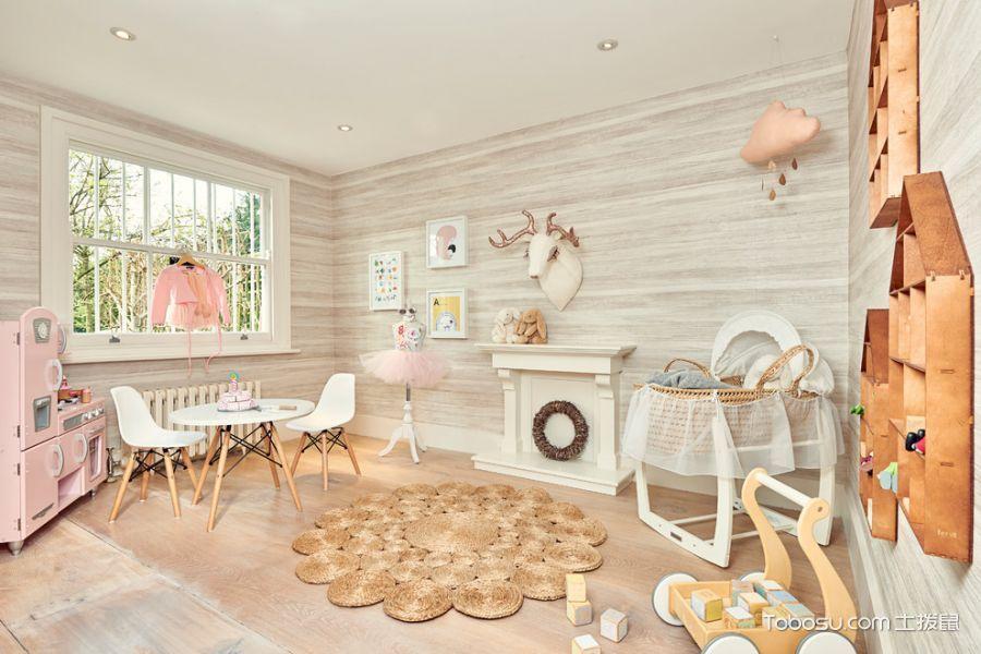 儿童房 窗台_现代风格复式231平米装修图片