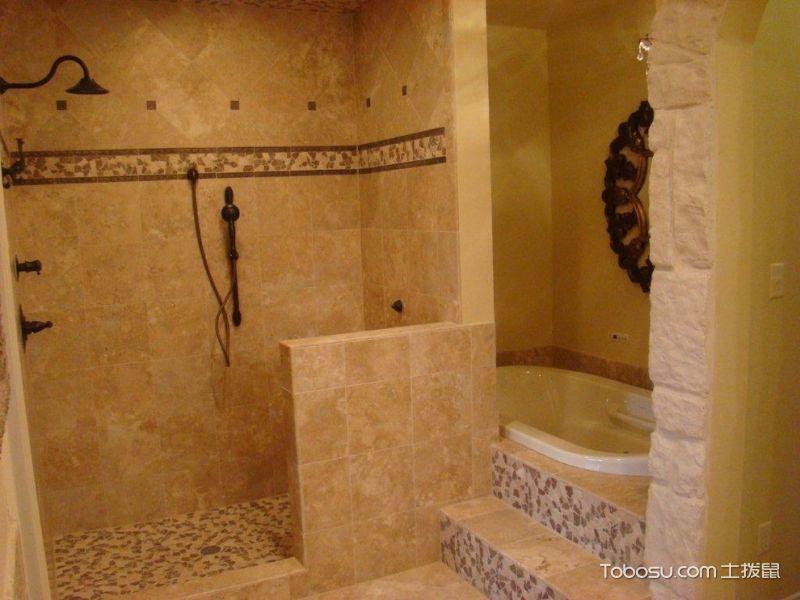 浴室 隔断_地中海风格别墅133平米装修图片
