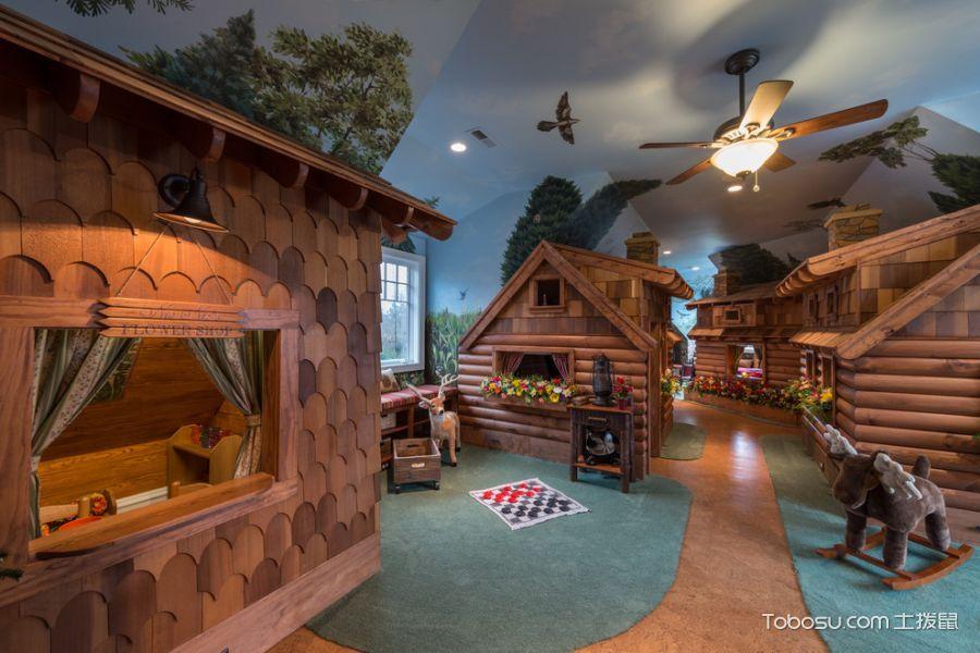 儿童房混搭风格装修设计图片