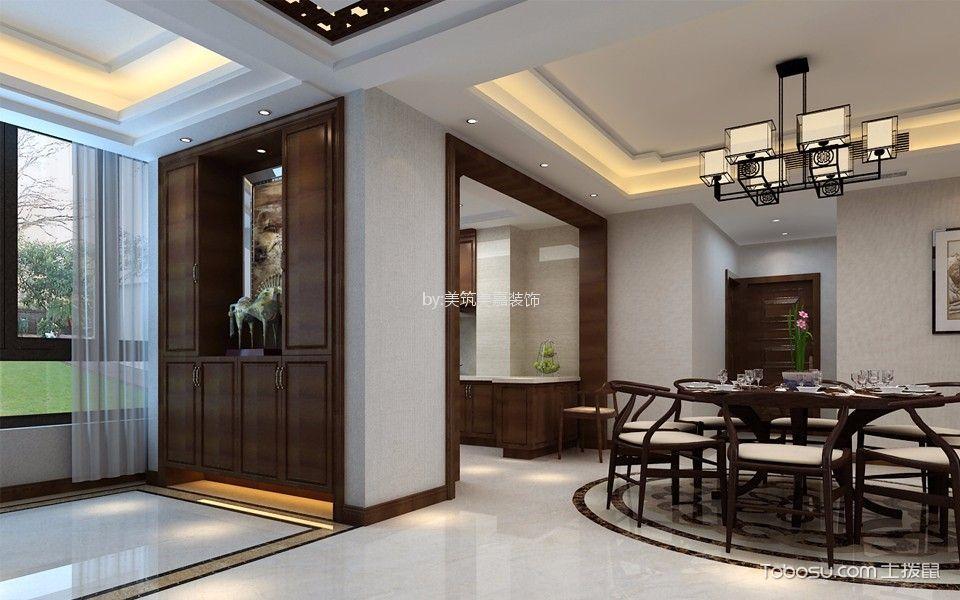 玄关_140平米锦苑新中式风格四居室装修效果图