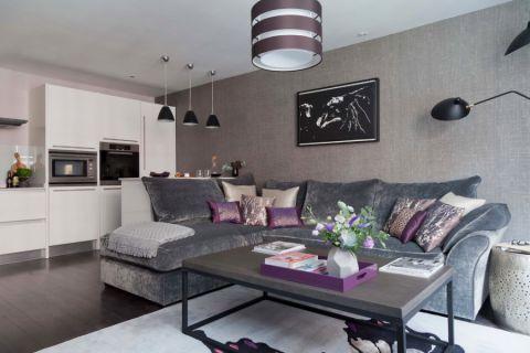 现代风格公寓100平米装修图片