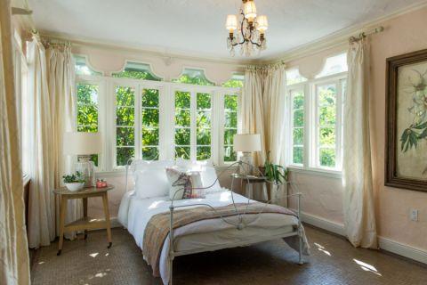 2018地中海卧室装修设计图片 2018地中海窗帘装修设计图片