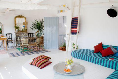 混搭客厅沙发装修实景图片